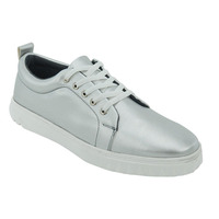 Sneakers En Plata Con Agujetas 017540