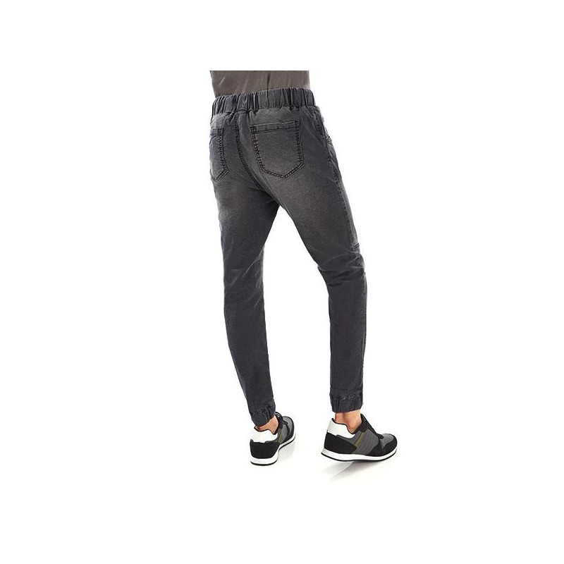 Pantalón gris resorte 014601