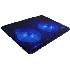 Base Para Notebook 2 Cooler Azules 13 A 17 Ng-z007 Noga