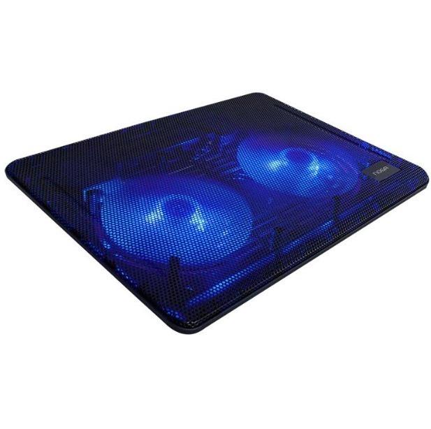 Base Para Notebook 2 Cooler Azules 13 A 17 Ng-z007 Noga