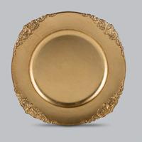 Jogo 6 Sousplat Dourado Provençal - Prestige