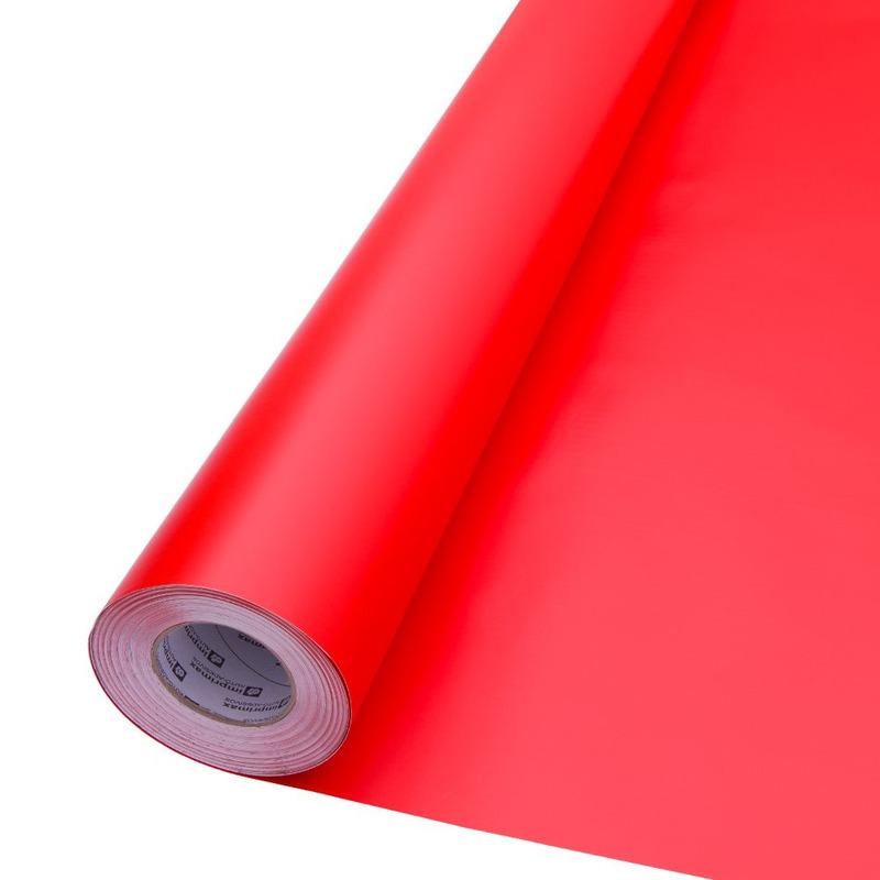 Vinil adesivo maxlux vermelho fogo translúcido larg. 1,22 m