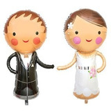 globo pareja de novios boda 35cm desinflado NO apto helio
