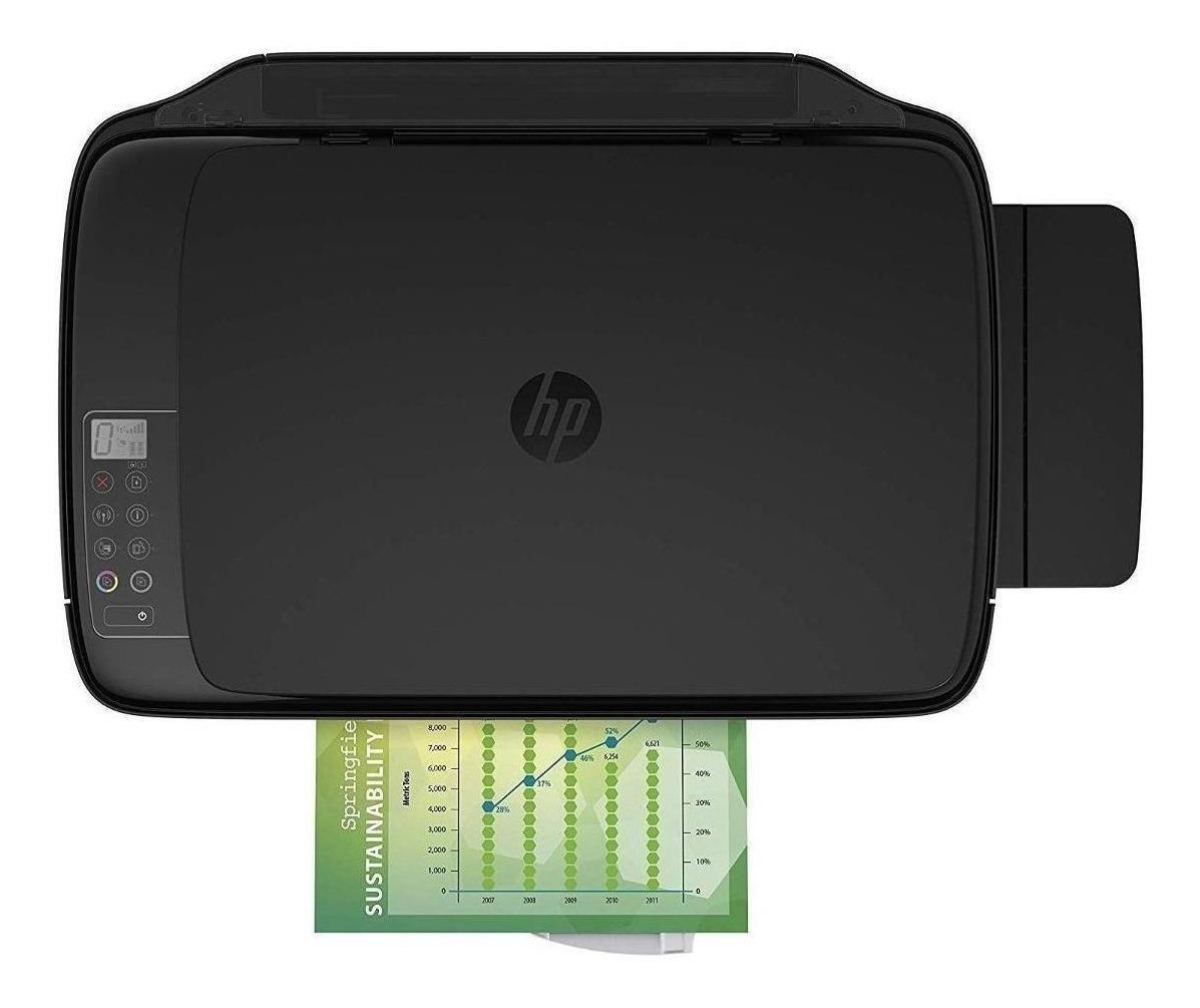 Impresora A Color Multifunción Hp Ink Tank Wireless 415 Con Wifi 110v/220v Negra