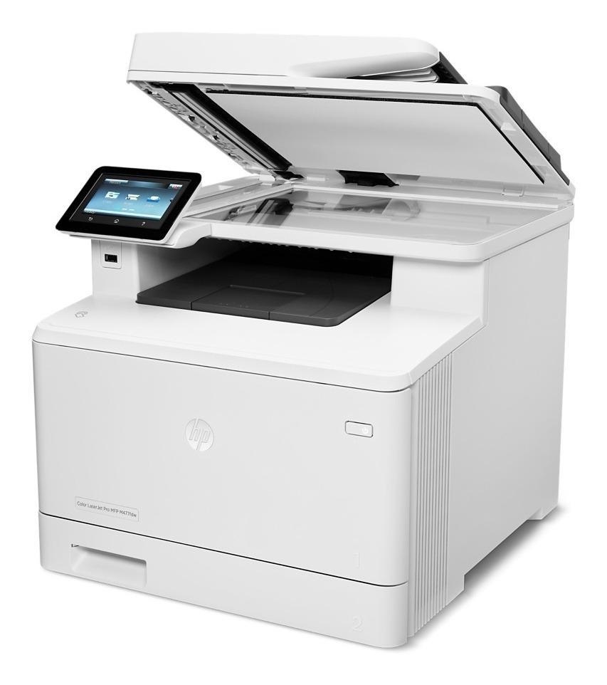 Impresora A Color Multifunción Hp Laserjet Pro M477fdw Con Wifi 220v Blanca