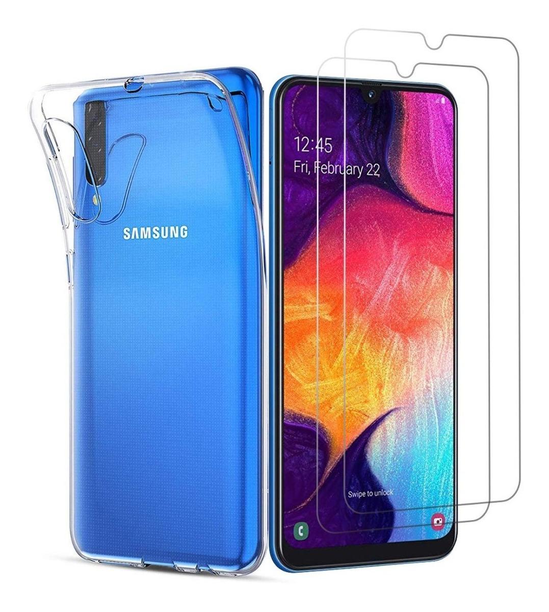Funda Airbag Transparente Samsung A30s A50 A50s + Glass