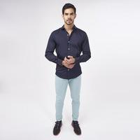 Camisa Azul Marino Lisa 019272