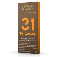 Chocolate ao Leite 31% Cacau - 30g - Espirito Cacau