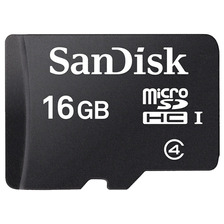 Memoria 16gb Micro Sd Sandisk Camara Celular Adaptador Sd