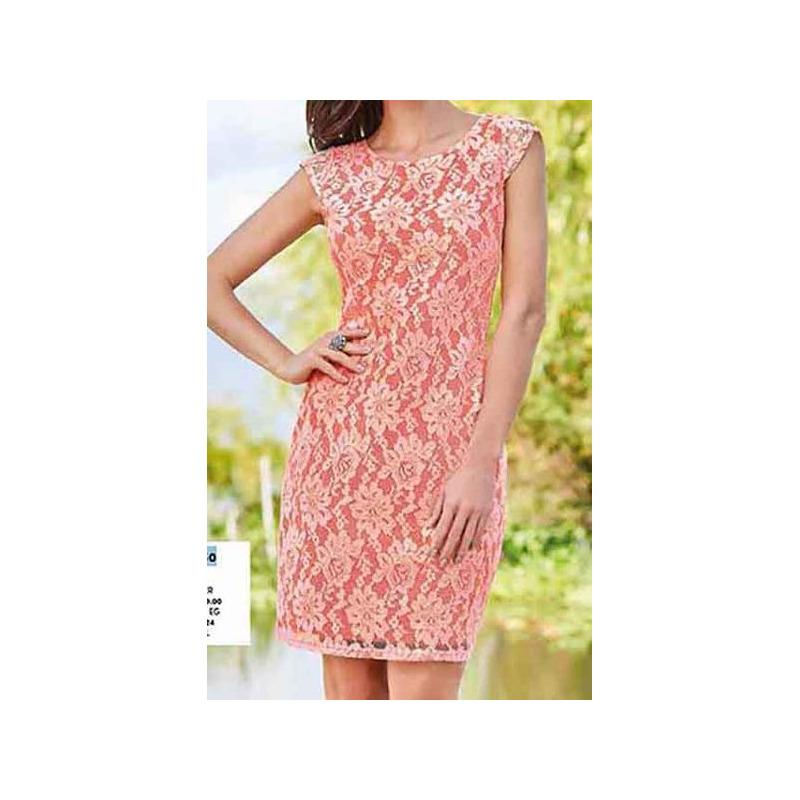 Vestido coral corto estampado 015150