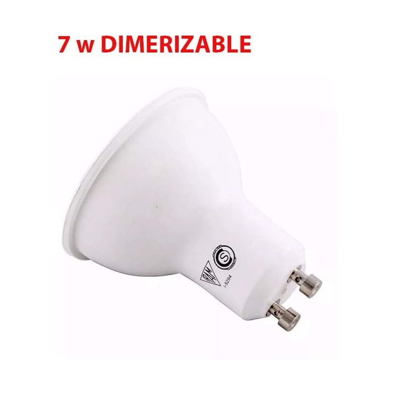 Pack X10 Lampara Dicroica Led 7w Dimerizable Gu10 Luz Desing
