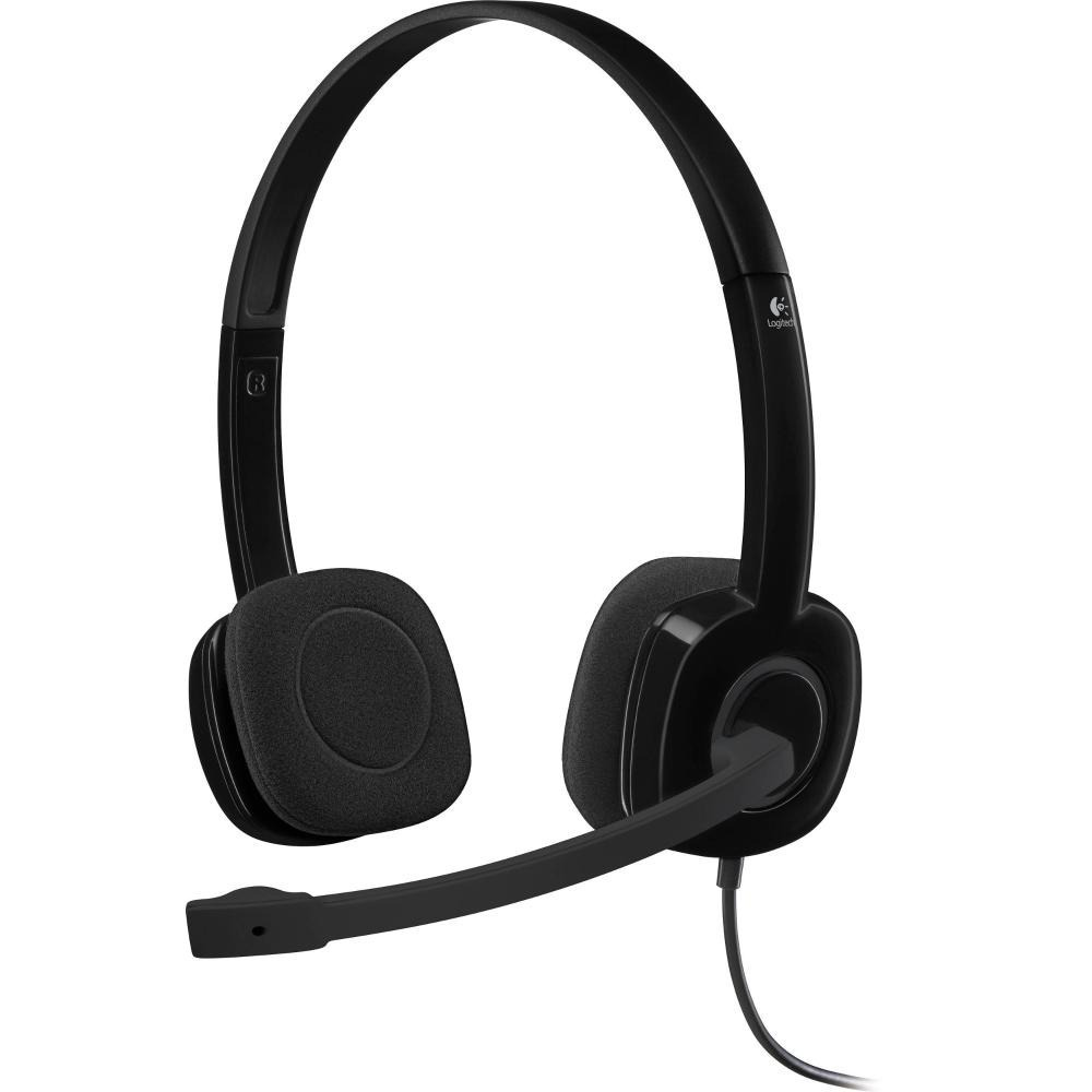 Auricular Logitech H151 C/microfono Vincha Headset 3.5mm