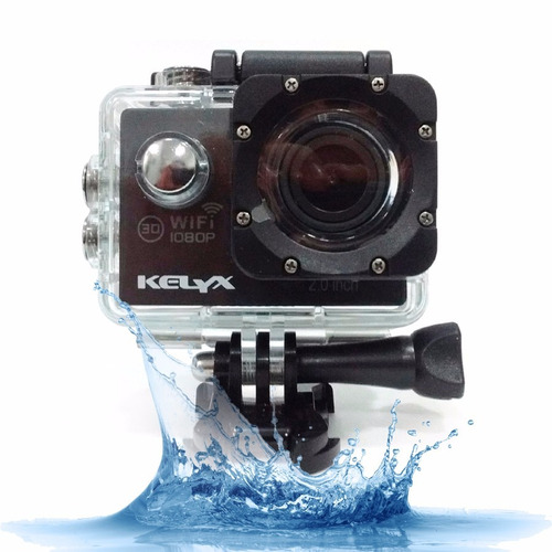 Camara Deportiva Sumergible Action Cam Kelyx Full Hd 1080p