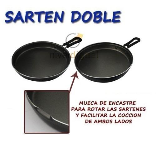 Sarten Doble 24cm Omeletera Tramontina Starflon Distribuidor
