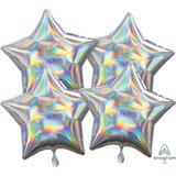 globo estrella iridiscente 45 cm desinflado apto helio