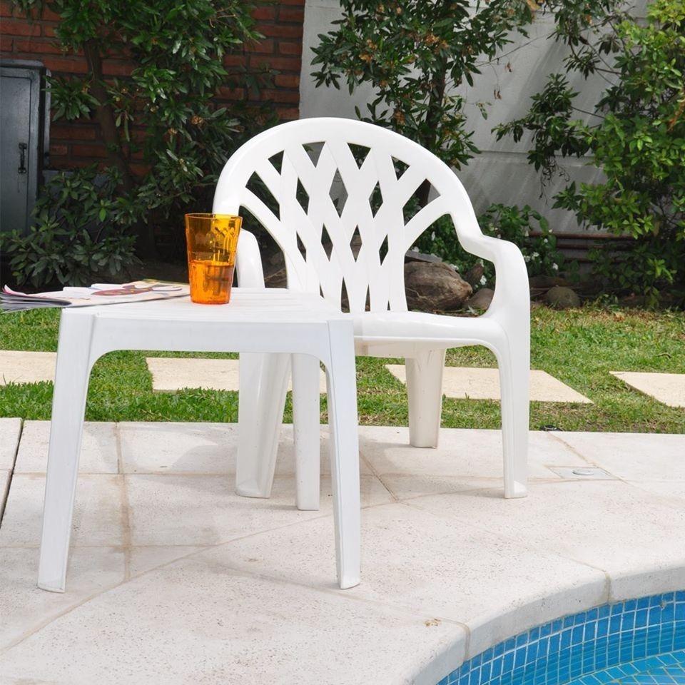 Sillón Reposera Plástico Mónaco Verano X1- Colombraro
