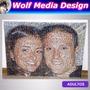 Cuadro Mural 60x80 Muchas Fotos Fotomosaico Personalizado | WOLF MEDIA DESIGN
