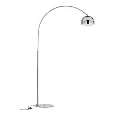 Lampara De Pie Arco Medium Cromo Apto Led Luz Desing