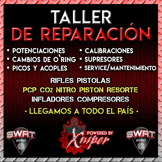 Kit Completo De Limpieza Mantenimiento Rifle Aire Y Co2 Swat