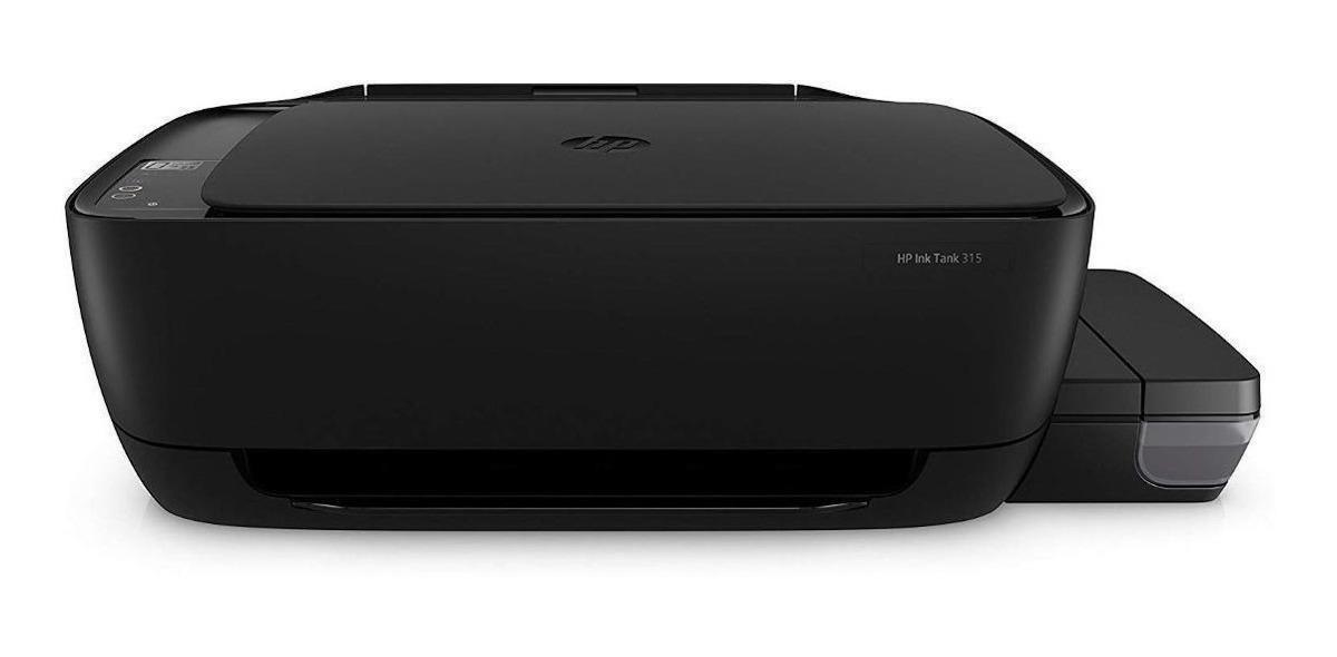 Impresora A Color Multifunción Hp Ink Tank 315 110v/220v Negra