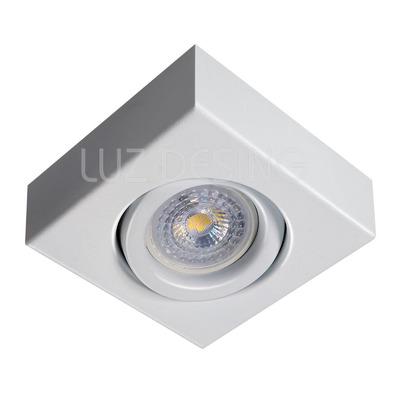 Spot Plafon Movil Blanco Cuadrado Gu10 Apto Led Luz Desing