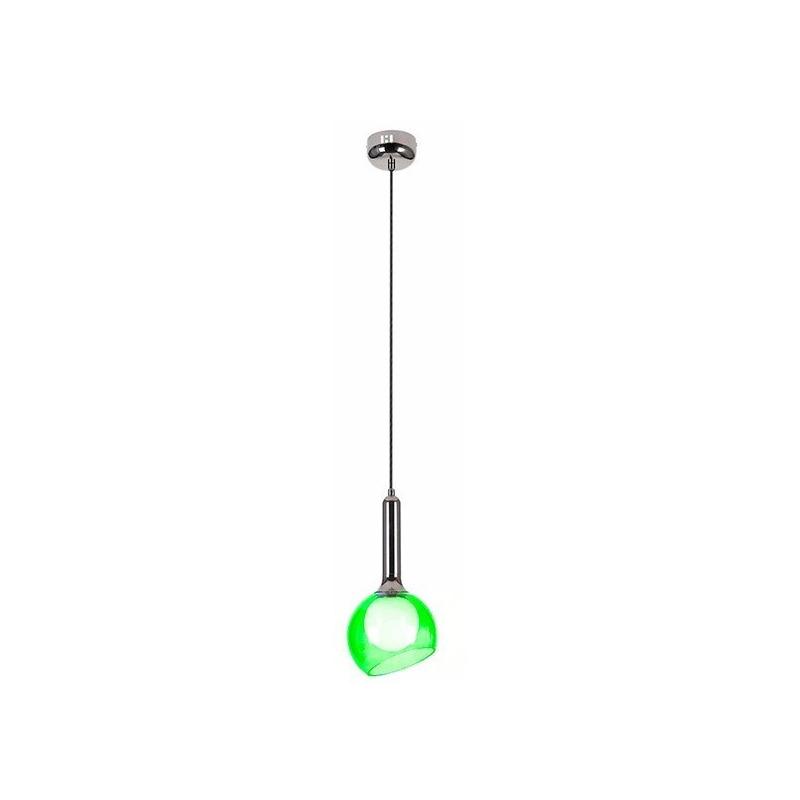Lampara Colgante Mikro 1 Luz Vidrio Color 5w Led Moderno Lk