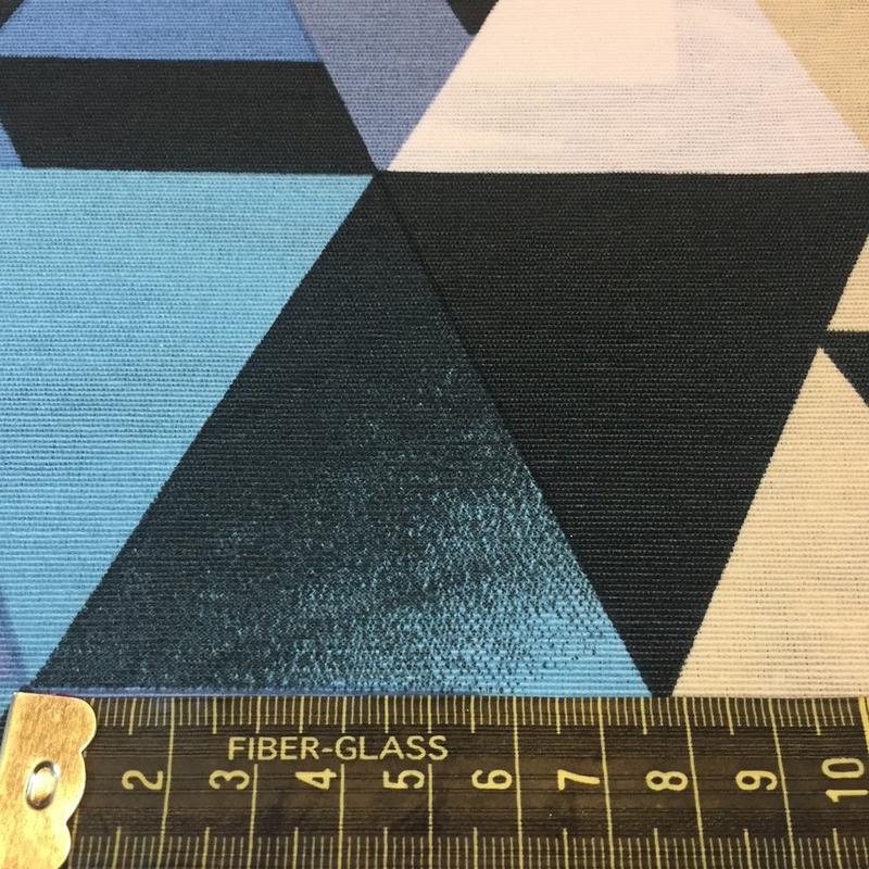 tecido impermeável triângulos evolution azul Larg. 1,42 M