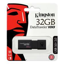 Pendrive 32gb Kingston Original Dt100g3 Usb 3.1 Pen Drive