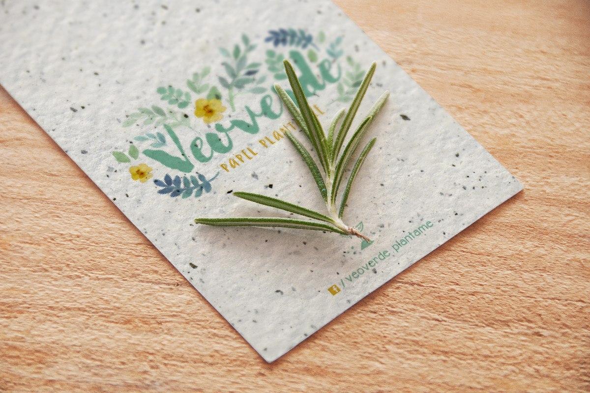 1.000 Tarjetas Personales Papel Plantable Reciclado 9x5 o...