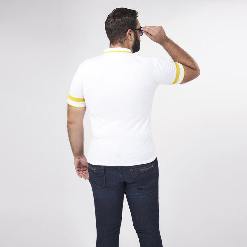 Camisa Blanca Con Líneas Multicolor 019289