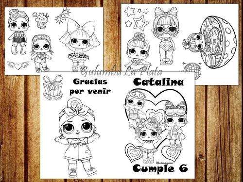 Kit Imprimible Libritos Colorear Muñecas Lol Lol Surprise