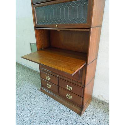 Biblioteca thompson roble no globe secreter escritorio for Mueble secreter