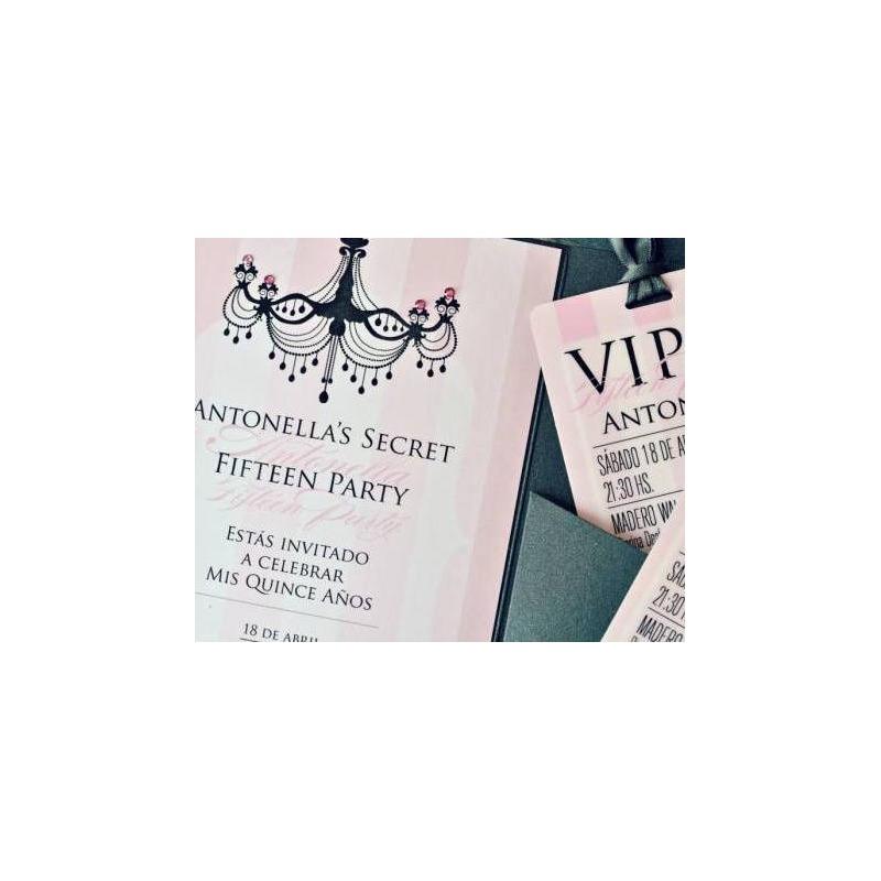 Invitación 15 Años Tq010 Victoria S Secret 185 0