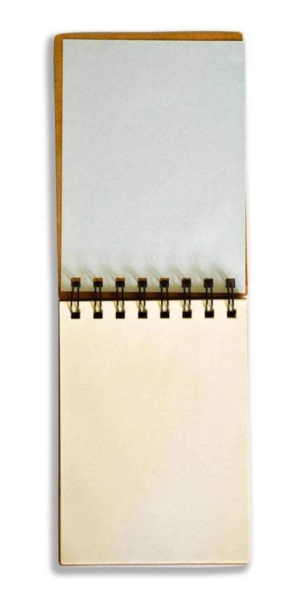 Cuaderno Anotador A6 Ecologico Tapas Madera Papel Reciclado