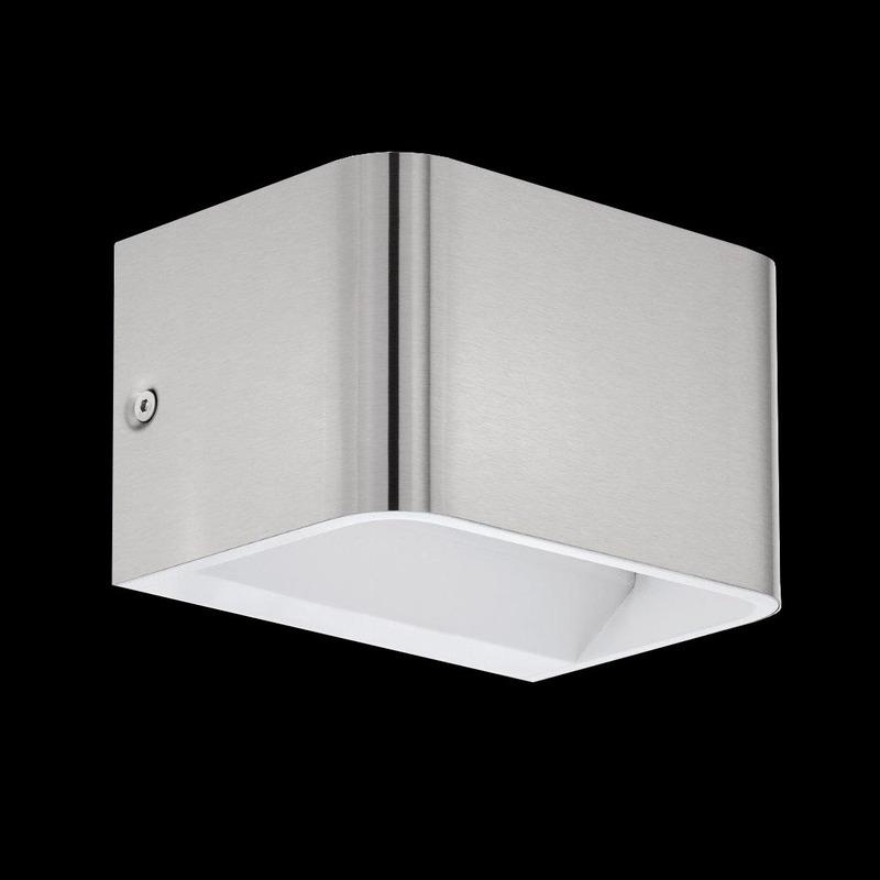 Aplique Pared Led Sania Aluminio Niquel Mate Moderno Eglo