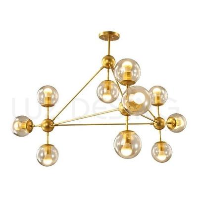 Araña Colgante Big Bang Dorado 10 Luces Oro Calidad Premiun
