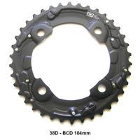 COROA SHIMANO SLX FC-M675 38D BCD 104MM P/ RELAÇÃO DE 2X10V - UND