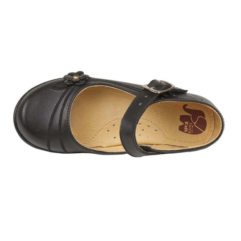 Flats negros con pulsera 018380