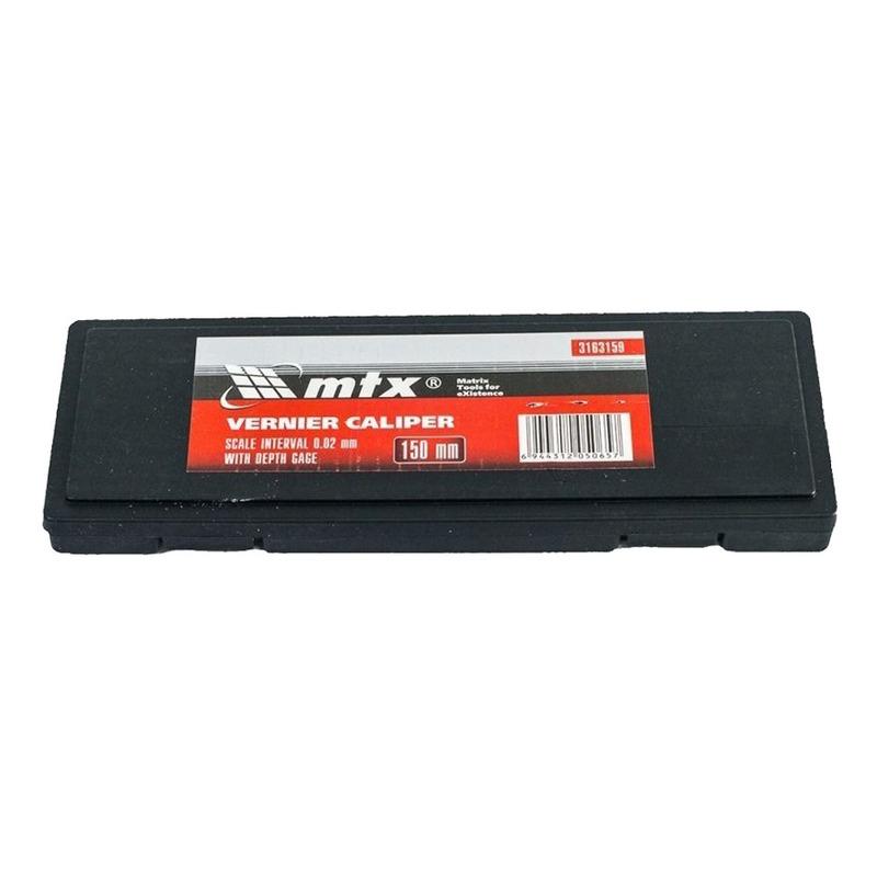 KIT 02 PAQUIMETRO UNIVERSAL METALICO 150MM/MTX + CASE