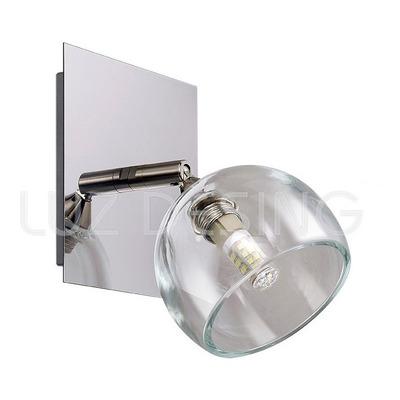 Aplique 1 Luz Moderno Cáliz Transparente Con Led Incluido