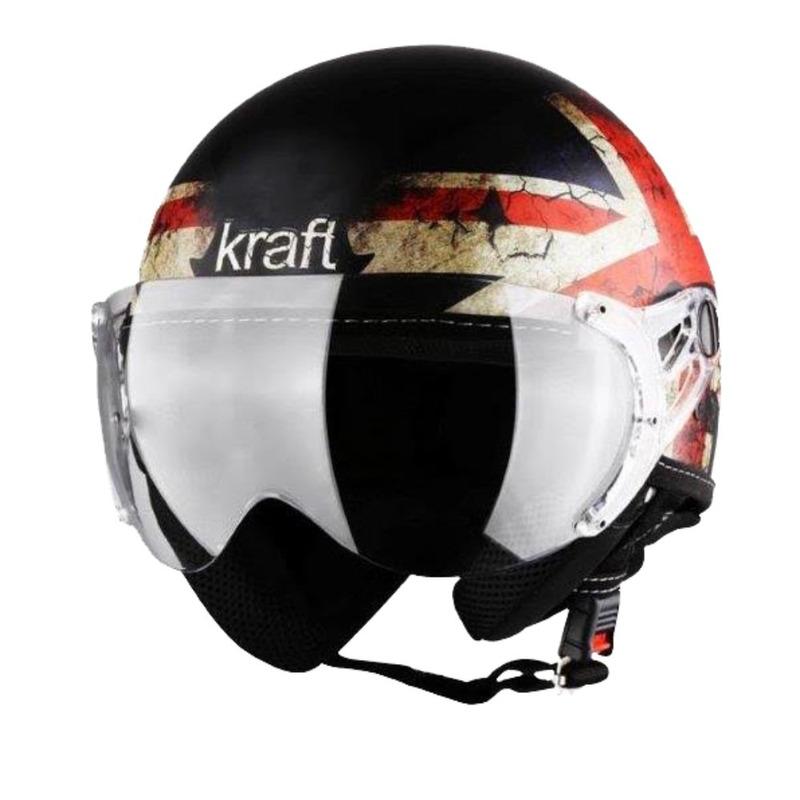 Capacete Kraft Plus Inglaterra Preto Fosco