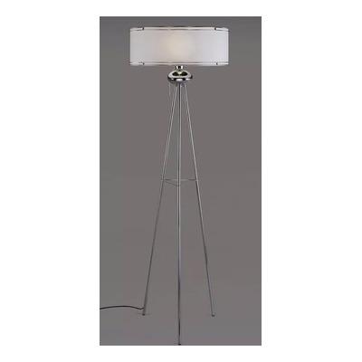 Lampara De Pie Tripode Aros Cromo Moderna Iluminación Deco