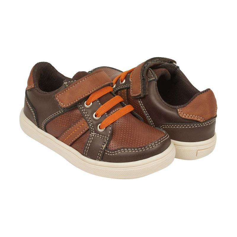 Sneakers miel y café con correa 018612