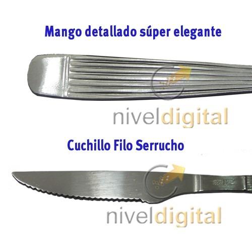 Set  240 Cubiertos Carol Acero Inoxidable Cuchara 17 Y 13 Cm