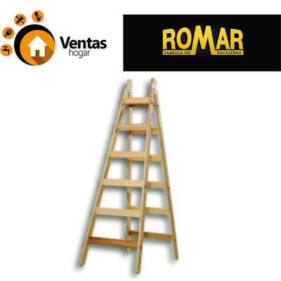 Escalera pintor madera 10 escalones ref romar 6 7 8 9 10 for Escaleras pintor precios