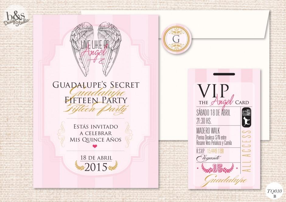 Invitación 15 años TQ010B (Victoria´s...