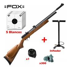 Rifle Aire Comprimido Fox Pcp + Cargador + Inflador Cuotas