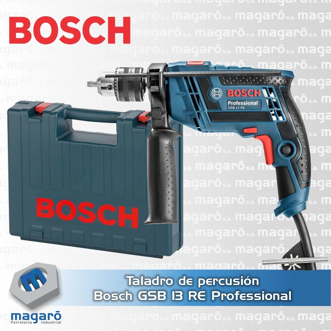Taladro Percutor Bosch Gsb 13 Re Reversible 650w Con Maletin