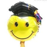 globo emoji egresado 35 cms desinflado no apto helio