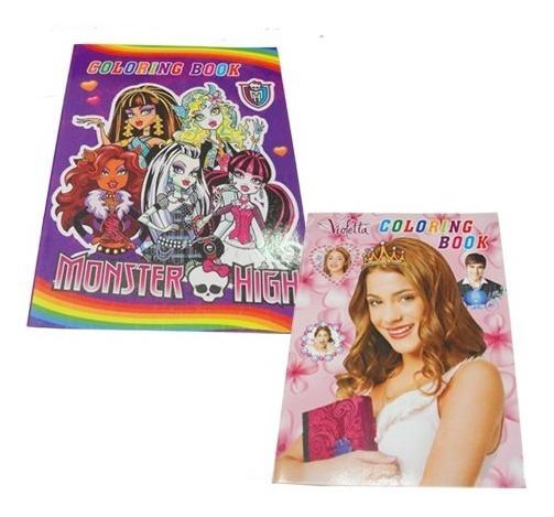 Set 12 Libros Infantiles Colorear Stickers Personajes Varios